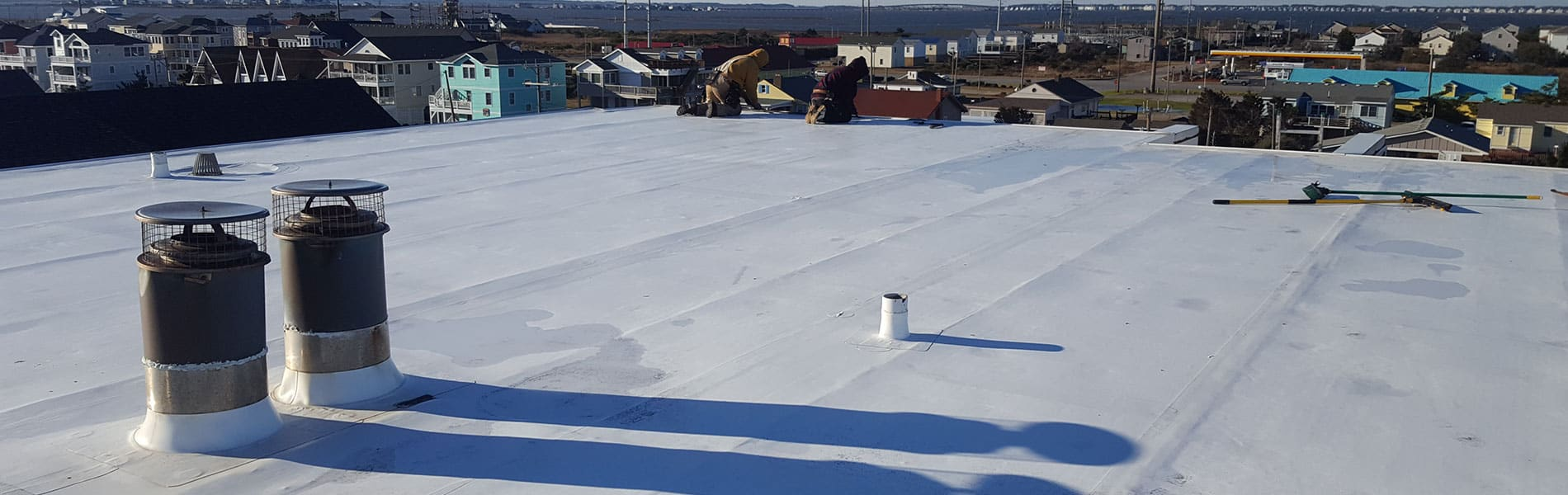 Outer Banks Low Slope Flat Roof System   Gallop Roofing & Remodeling, Inc.