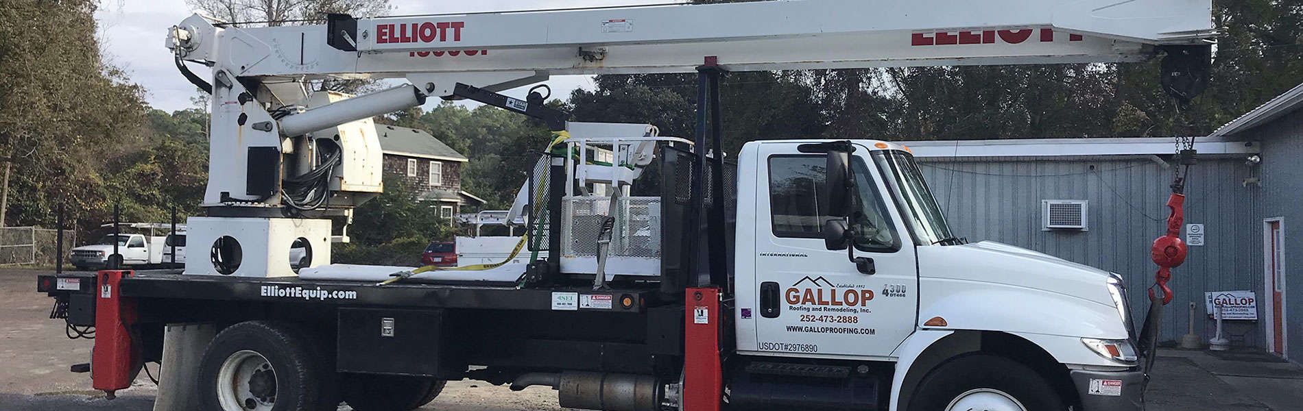 Outer Banks Crane Rental Service   Gallop Roofing & Remodeling, Inc.